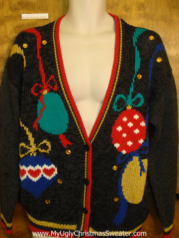 80s Ornaments Ugliest Christmas Sweater