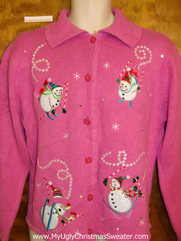 Pretty in Pink Ugliest Christmas Sweater