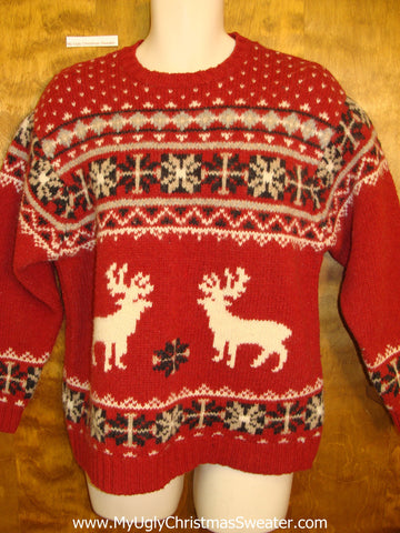 Classic Dueling Reindeer Ugliest Christmas Sweater
