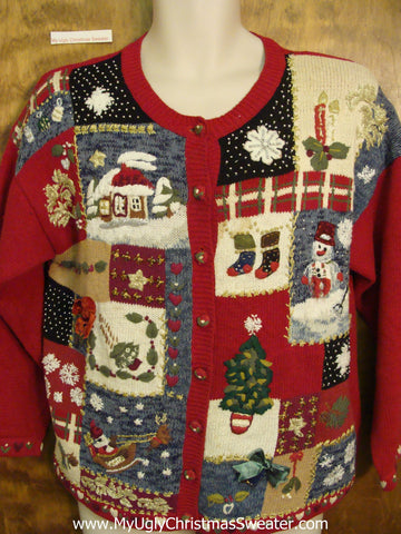 Mess of Designs Ugliest Christmas Sweater