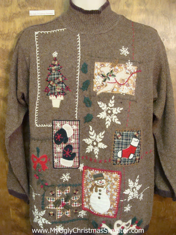 Brown is the Worst Ugliest Christmas Sweater