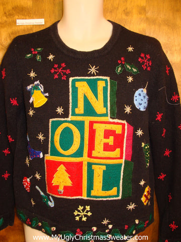 NOEL Bright and Bold Ugliest Christmas Sweater