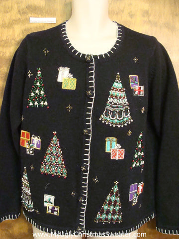 Bling Trees Ugliest Bad Christmas Sweaters