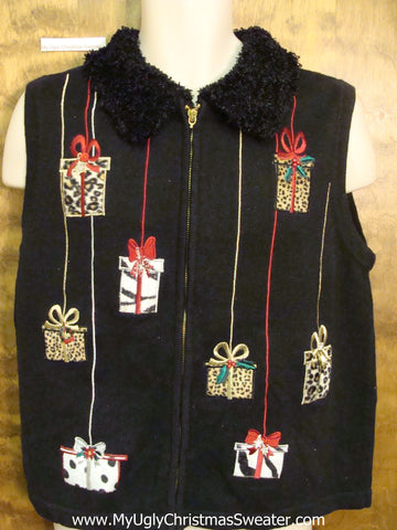 Animal Print Gifts Ugliest Bad Christmas Sweaters Vest