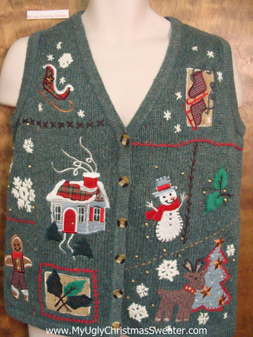 Crafty Mess Ugliest Bad Christmas Sweaters Vest
