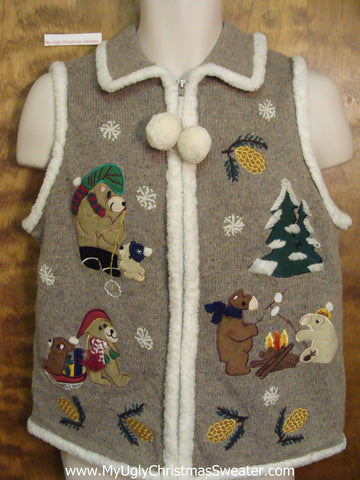 Busy Bears Ugliest Bad Christmas Sweaters Vest