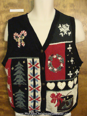 Tacky Designs Ugliest Bad Christmas Sweaters Vest