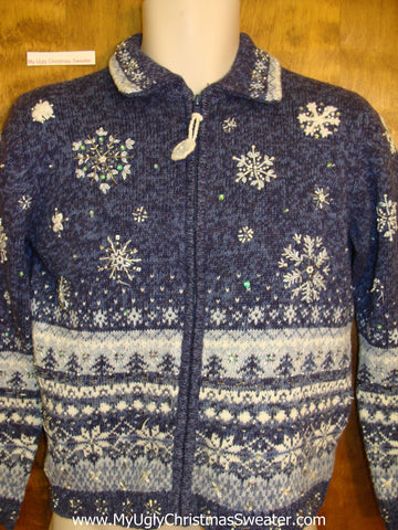 Blue Nordic Ugliest Bad Christmas Sweaters