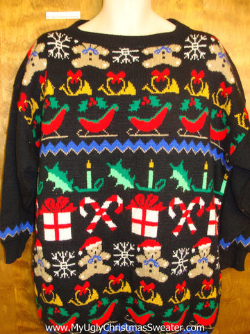 Super Colorful Ugly Christmas Sweater Pullover Mens Wms XXXL