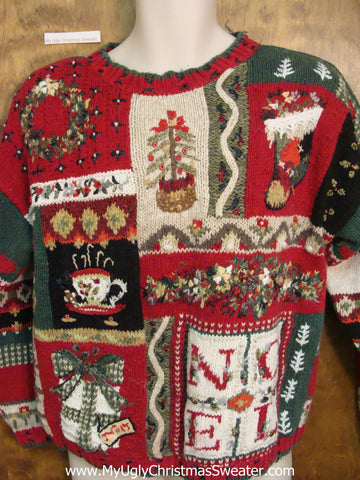 Horrible Busy Ugliest Bad Christmas Sweaters Pullover