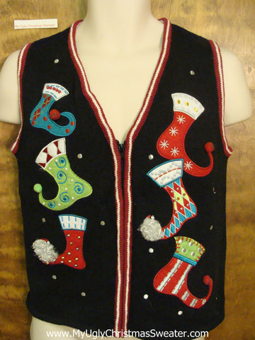 Scary Stockings Ugliest Bad Christmas Sweaters Vest
