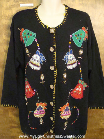 Bell BLING Ugliest Bad Christmas Sweaters