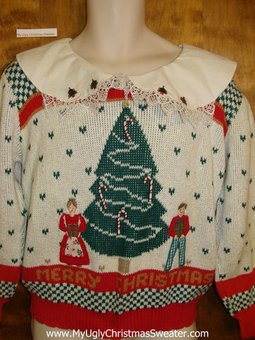 Horrible 80s Prissy Corny Christmas Sweater