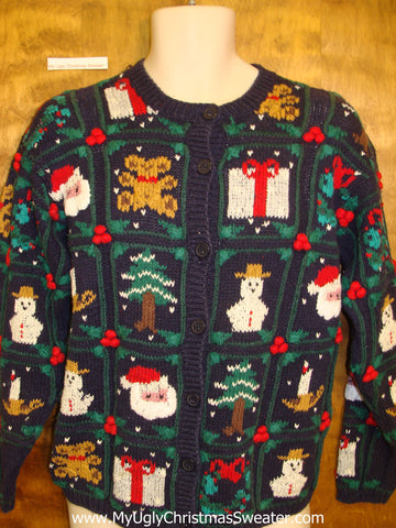 Awesome Colorful Corny Christmas Sweater Cardigan