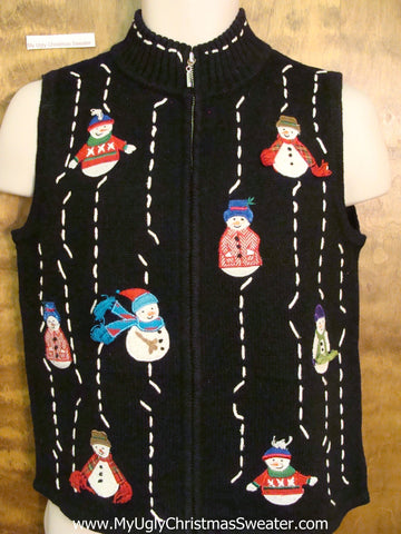 Mission Impossible Snowmen Christmas Sweater Vest