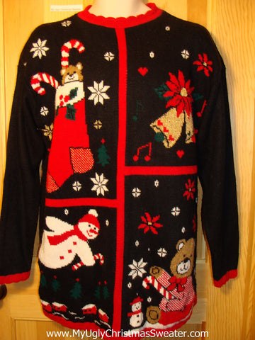 Tacky Ugly Christmas Sweater 80s Acrylic Classic (f316)