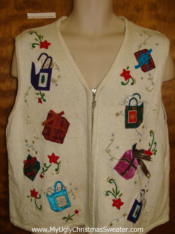 Tumbling Gifts Corny Christmas Sweater Vest