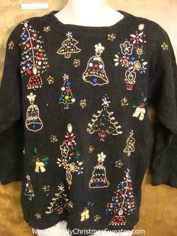BLING Heaven Corny Christmas Sweater Pullover
