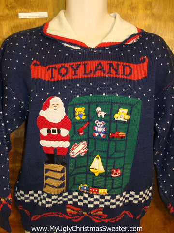 Toyland 80s Horrible Ugly Christmas Sweater Pullover