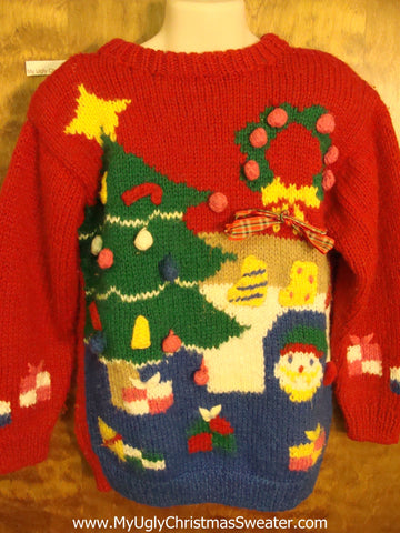 Child Size 80s Horrible Ugly Christmas Sweater Pullover