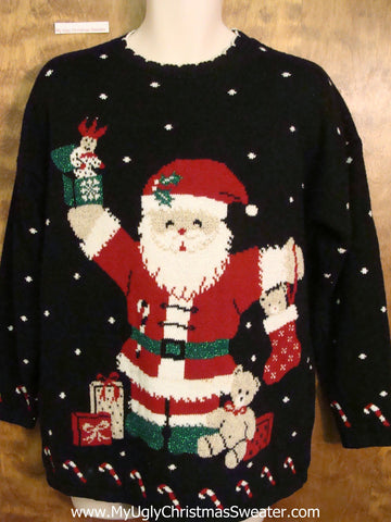 Massive Snowman 80s Horrible Ugly Christmas Sweater Pullover