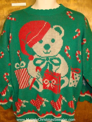 Horrible Green Best Ugly Christmas Sweater Pullover
