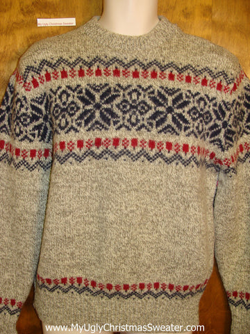 Horrible 80s Nordic 2sided Ugly Christmas Sweater Pullover