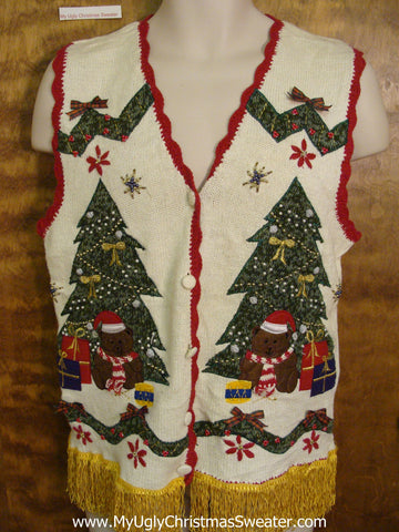 Best 80s Tacky Horrible Ugly Christmas Sweater Vest
