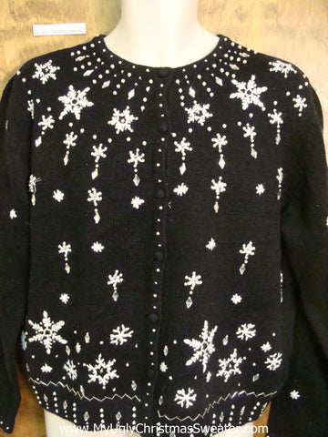 Fancy and Kind of Nice Ugly Christmas Sweater Cardigan