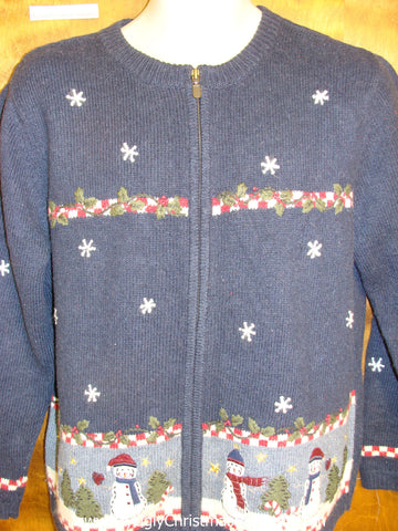 Horrible 2sided Blue Ugly Christmas Sweater