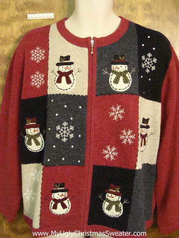 Horrible Red and Black Ugly Christmas Sweater