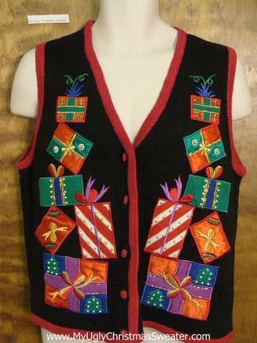 Horrible Tippy Gifts Ugly Christmas Sweater Vest