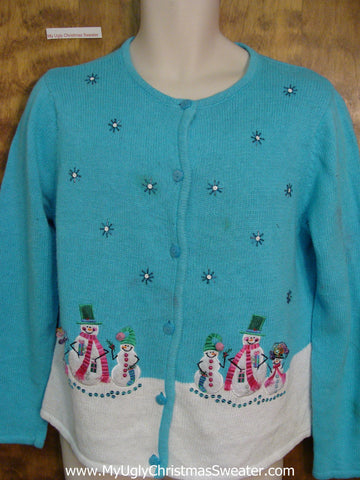 Cheap Baby Blue Horrible Ugly Christmas Sweater