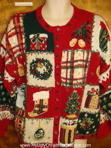 Hot Mess of Color Cheap Ugly Christmas Sweater
