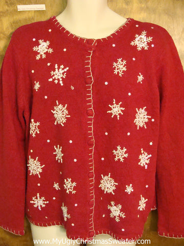 Almost Tasteful Cheap Ugly Christmas Sweater