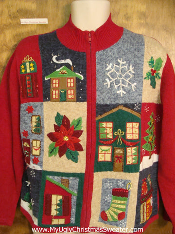 80s Awful Cheap Ugly Christmas Sweater