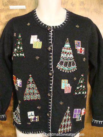 Bling Trees Cheap Ugly Christmas Sweater