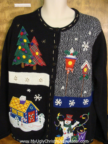 Birdhouse Themed Cheap Ugly Christmas Sweater