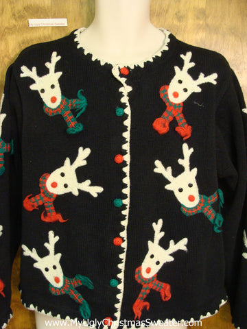 Rare Reindeer Heads Ugly Christmas Sweater