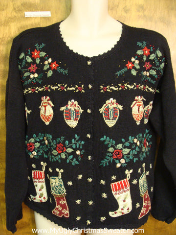 Fancy Smancy Cheap Ugly Christmas Sweater