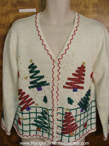 Zig Zag Trees Cheap Ugly Christmas Sweater