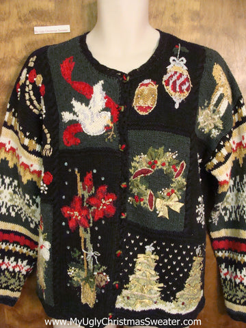 Wow! Tacky Busy Cheap Ugly Christmas Sweater