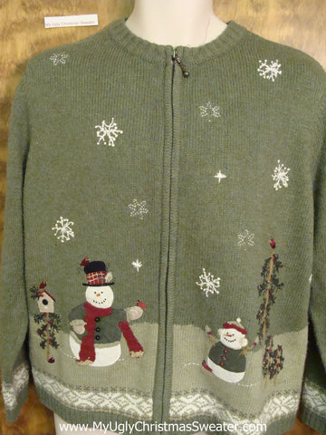 Cheap 2sided Green Ugly Christmas Sweater