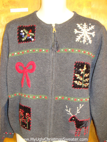 Tacky Reindeer Cheap Ugly Christmas Sweater