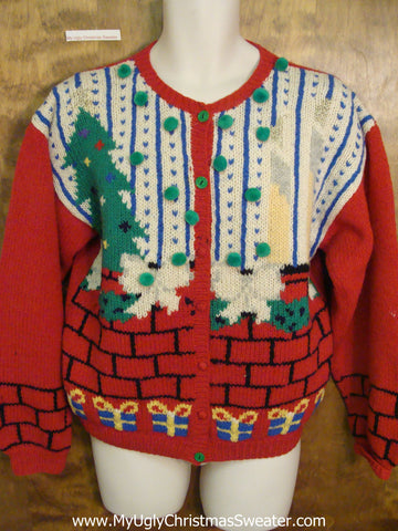 80s Sytle Horrible Ugly Christmas Sweater