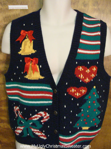Cheap Colorful Ugly Christmas Sweater Vest