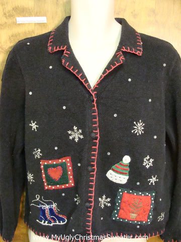 Tacky Crafty Cheap Ugly Christmas Sweater