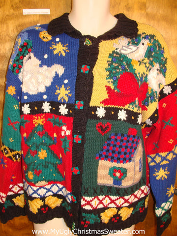 Colorful 2sided Holy Grail of Ugly Christmas Sweater