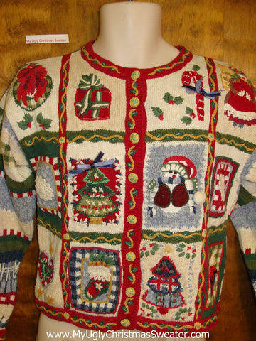 Cheap Ugly Christmas Sweater wiht Padded Shoulders