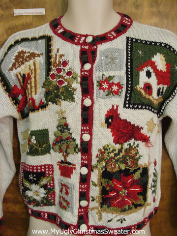 Super SHORT Tacky Cheap Ugly Christmas Sweater